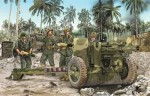 105mm Howitzer M2A1 & Carriage M2A2 w/USMC Gun Crew, skala 1:35, DRAGON 6531